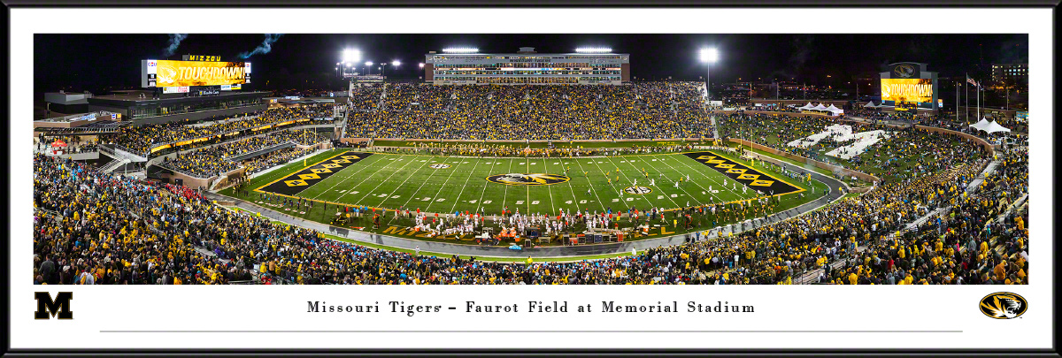 Missouri Tigers Football Panoramic Poster - Faurot Field Picture