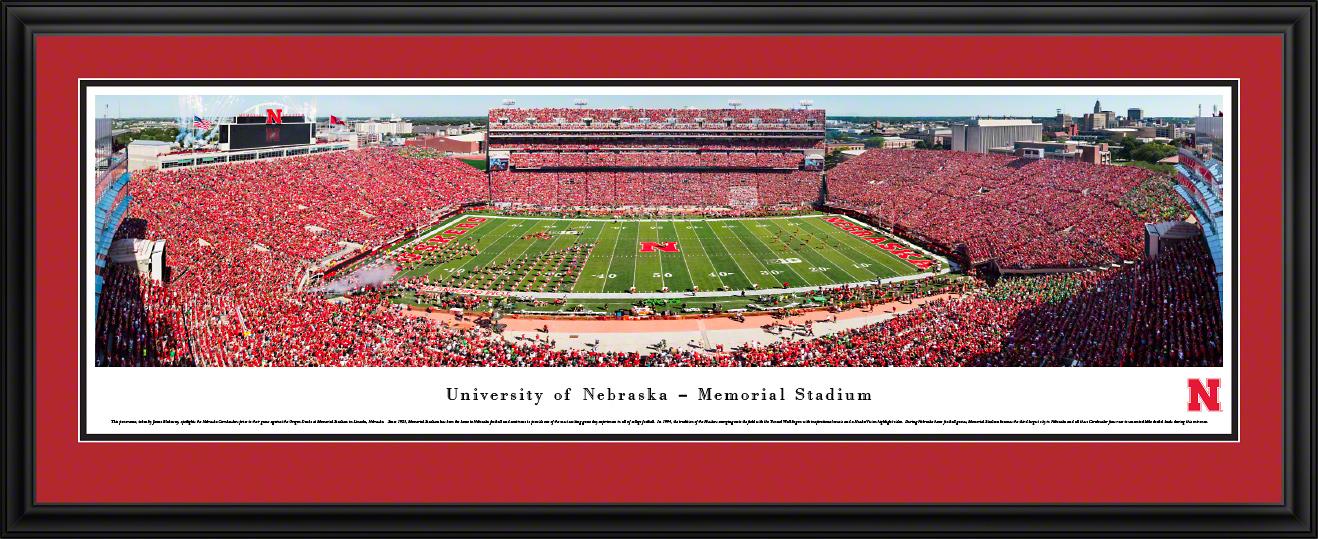 Nebraska Cornhuskers Memorial Stadium Panoramic Wall Decor