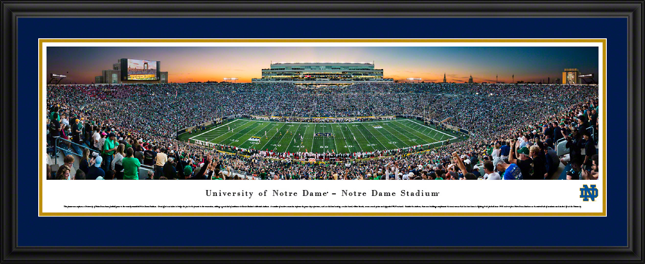Notre Dame Fighting Irish Football Framed Panorama