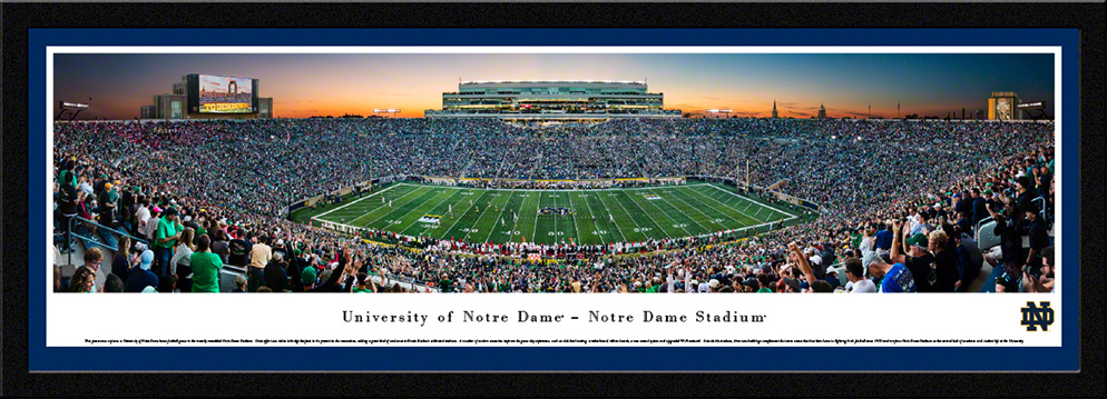 Notre Dame Fighting Irish Select Framed Panorama