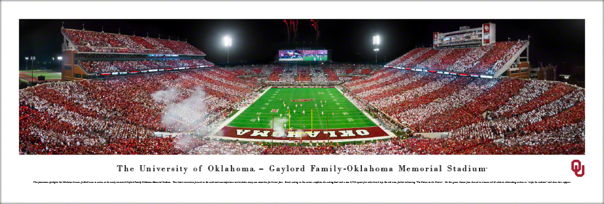Oklahoma Sooners College Football Panoramic Wall Decor