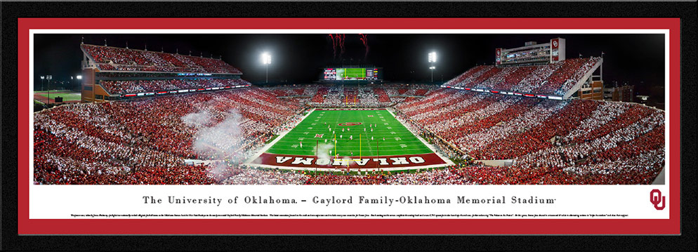 Oklahoma Sooners Football Select Framed Panorama