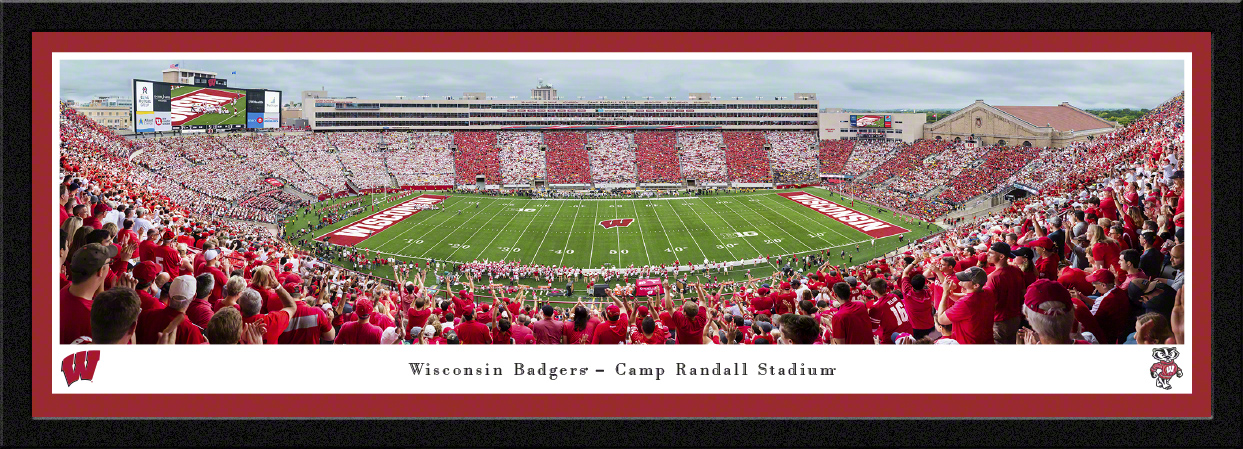 Wisconsin Badgers Football Panoramic Wall Decor