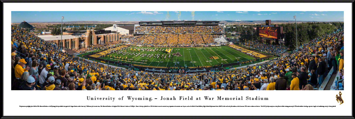 Wyoming Cowboys Standard Framed Panorama