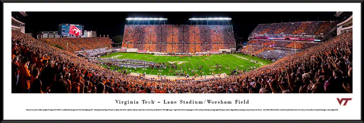 Virginia Tech Hokies Football Panoramic Fan Cave Wall Decor