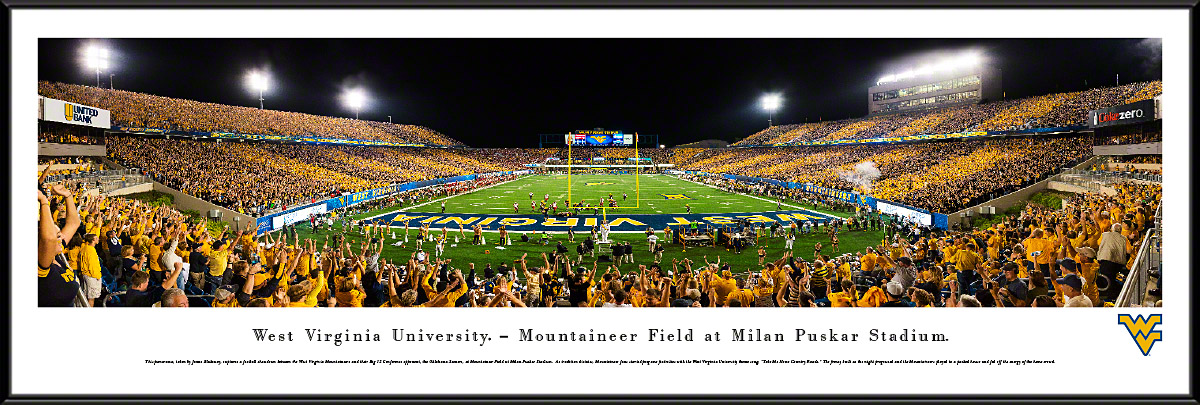 West Virginia Mountaineers Football Framed Panorama