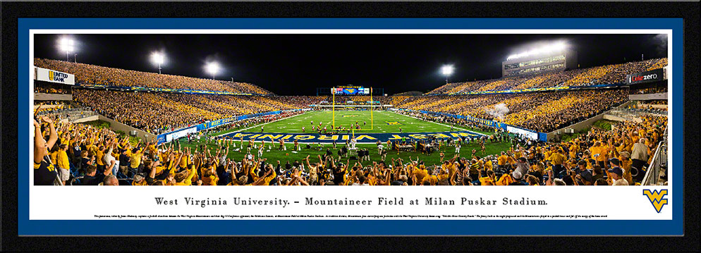 West Virginia Mountaineers Football Select Framed Panorama