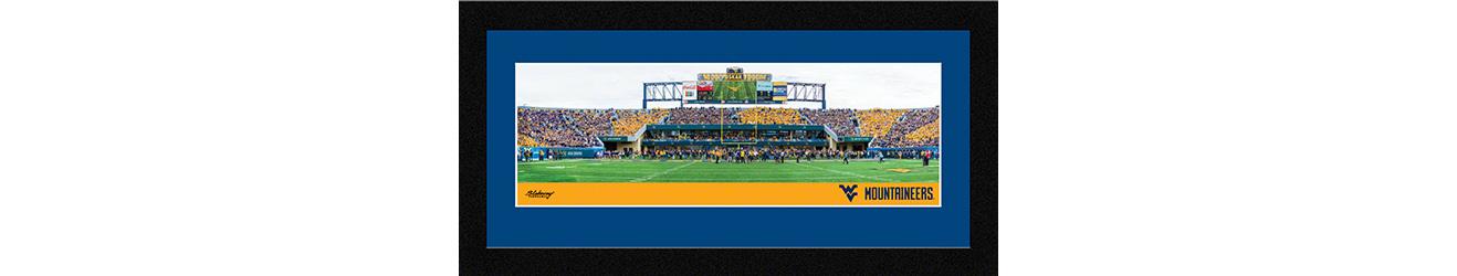 WVU Mountaineers Football Framed Panoramic Wall Decor
