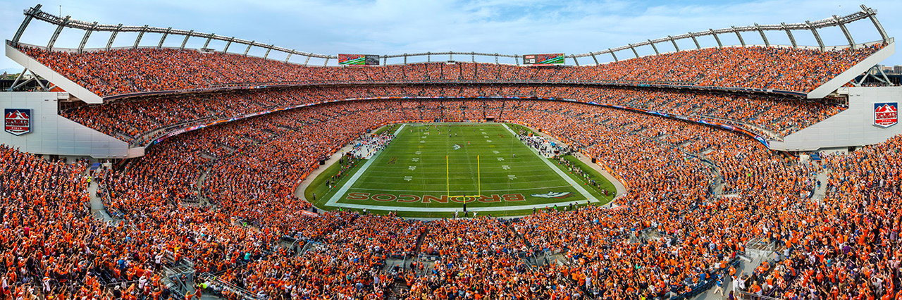 Denver Broncos Panoramic Picture - Sports Authority Field at Mile High Stadium Panorama