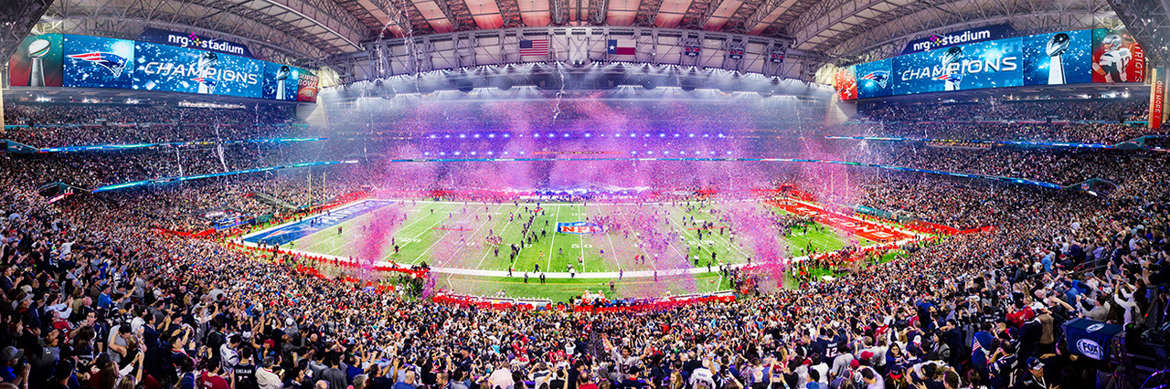 2017 Super Bowl LI Panoramic Picture - New England Patriots