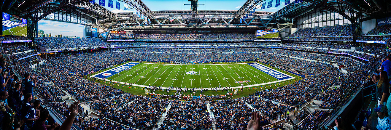 Indianapolis Colts Panoramic Picture - Lucas Oil Stadium Panorama