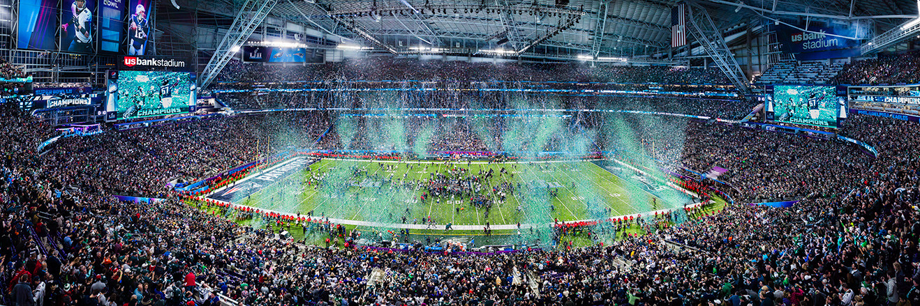 2018 Super Bowl LII Panoramic Picture - Philadelphia Eagles - Super Bowl 52