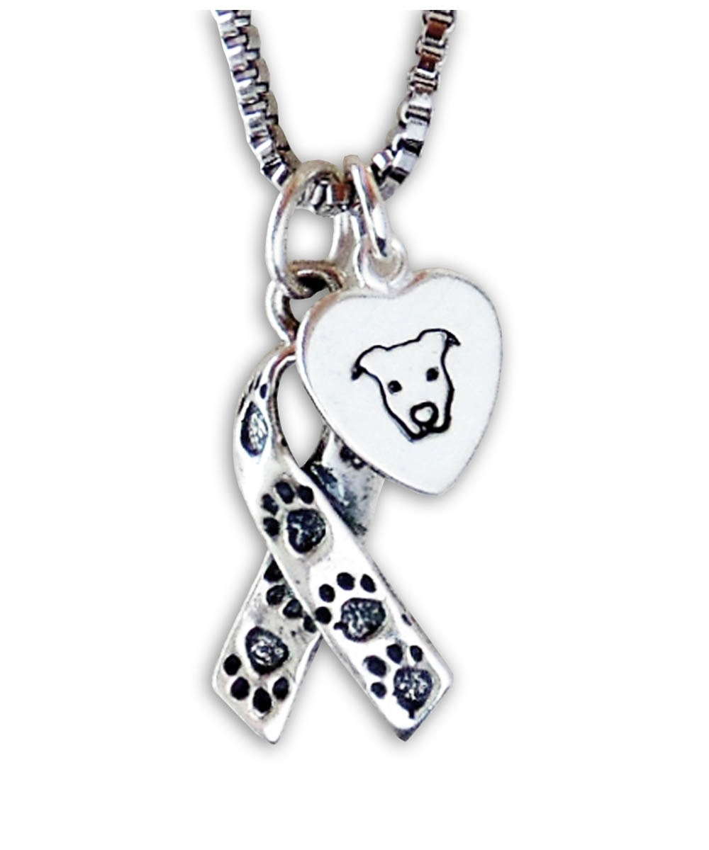 Pit Bull Awareness Ribbon Necklace (S1)