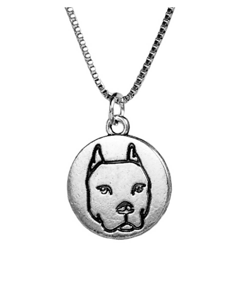 LOVE Pit Bull Necklace (Cropped Ears)