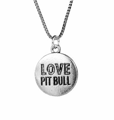 LOVE Pit Bull Necklace (Back)
