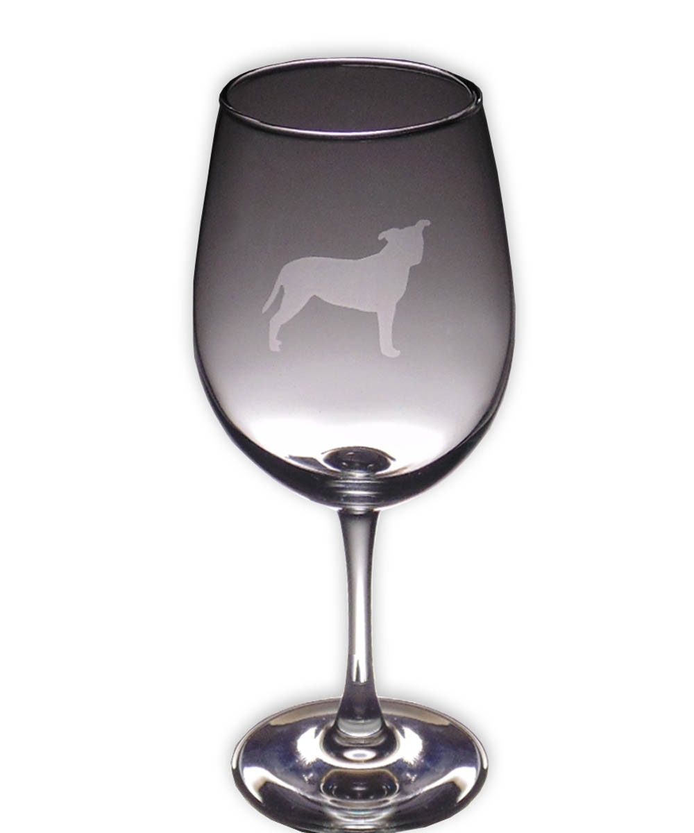 Pit Bull Wine Glass - Profile Natural Ears