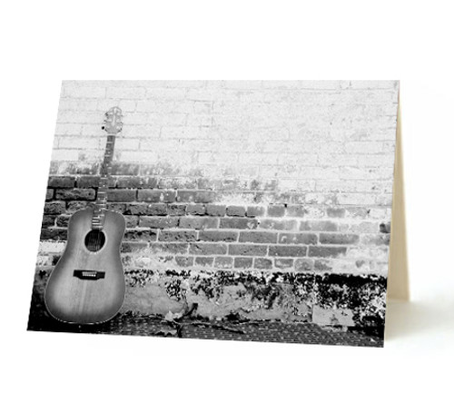 """Brick Guitar"" Card"