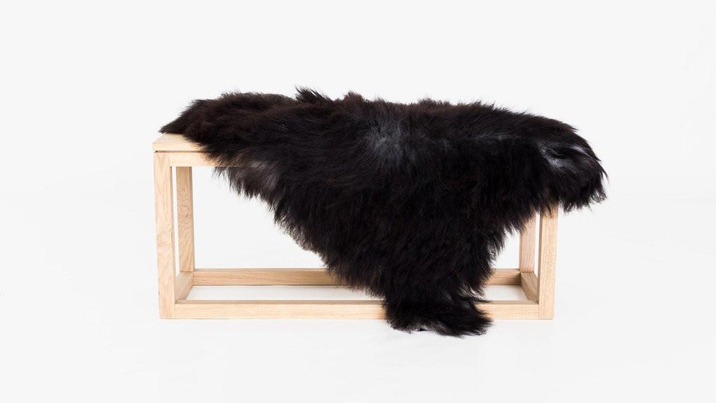 Icelandic Sheepskin Charcoal Black