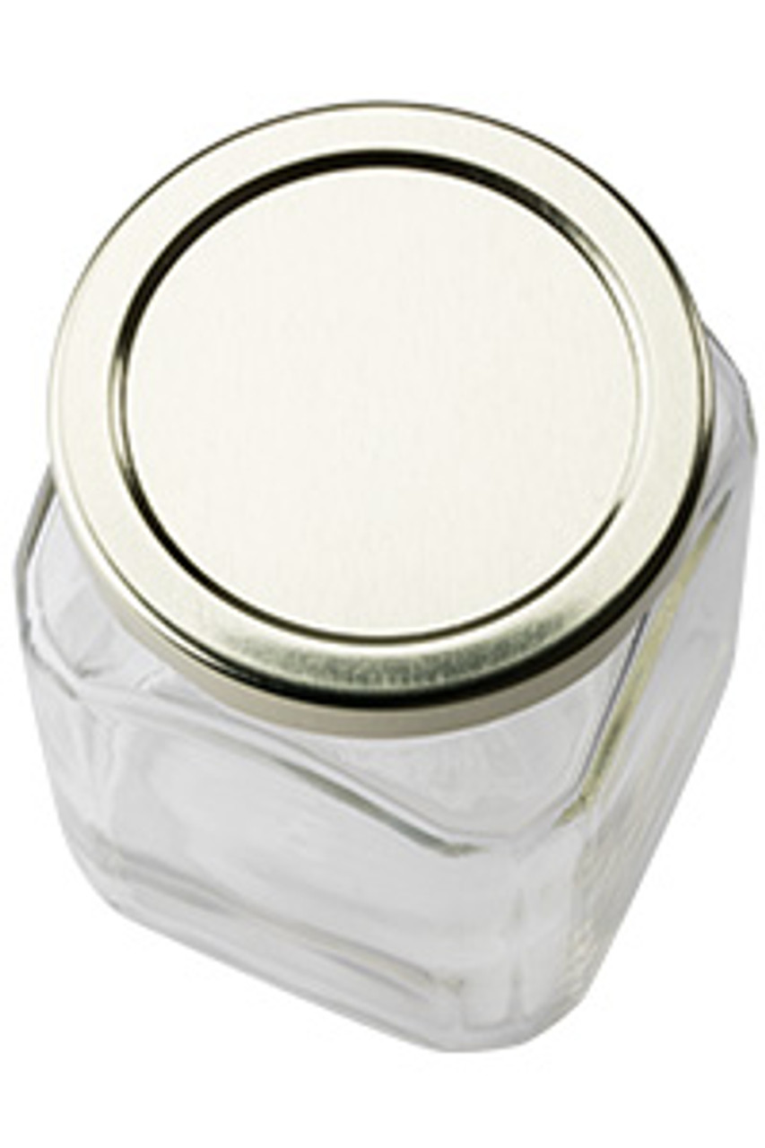 Victorian Square Glass Canning Jar 10 Oz Specialty Bottle