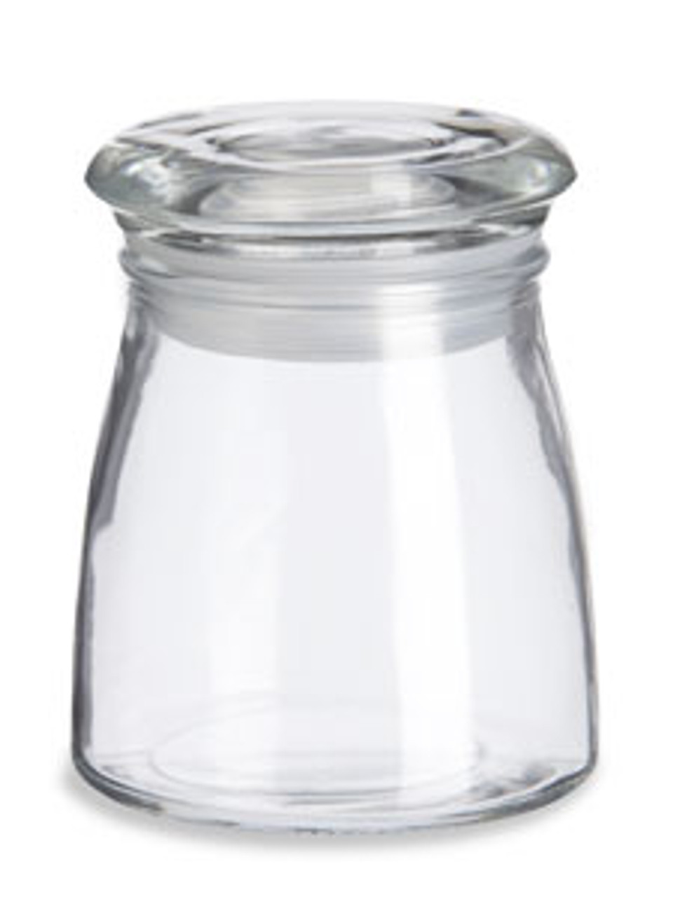 Tapered Glass Candle Jar With Lid 4oz Specialty Bottle