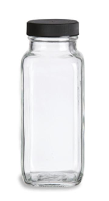 French Square Glass Milk Bottle 8 Oz Specialty Bottle