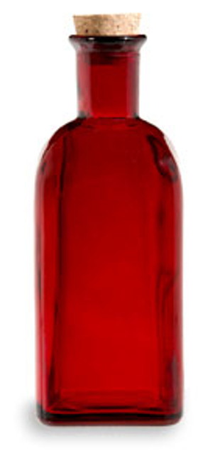 Recycled Red Glass Bottle W Cork 500ml Specialty Bottle