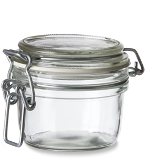 Bale Top Round Glass Hermetic Jar 4 Oz Specialty Bottle