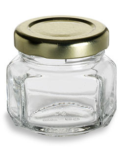 Oval Hexagon Glass Jar 1 5 Oz 45ml Specialty Bottle