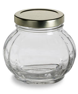 Faceted Glass Canning Jar 8 Oz 225ml Specialty Bottle