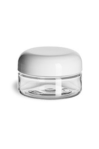 Clear Pet Plastic Jar 2 Oz Specialty Bottle