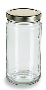 Clear Tall Glass Jar With Gold Lid 12 Oz Specialty Bottle