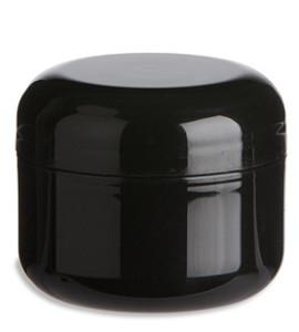Double Wall Black Plastic Jar 1oz Specialty Bottle
