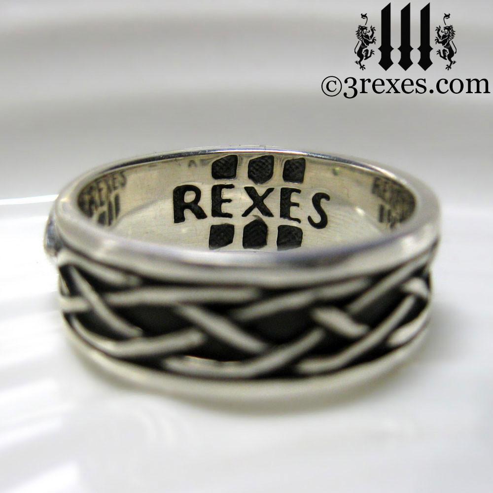 celtic knot silver soul ring 925 sterling silver. Black Bedroom Furniture Sets. Home Design Ideas