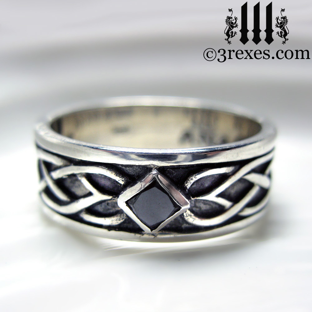 Celtic Knot Silver Soul Ring 925 Sterling Silver