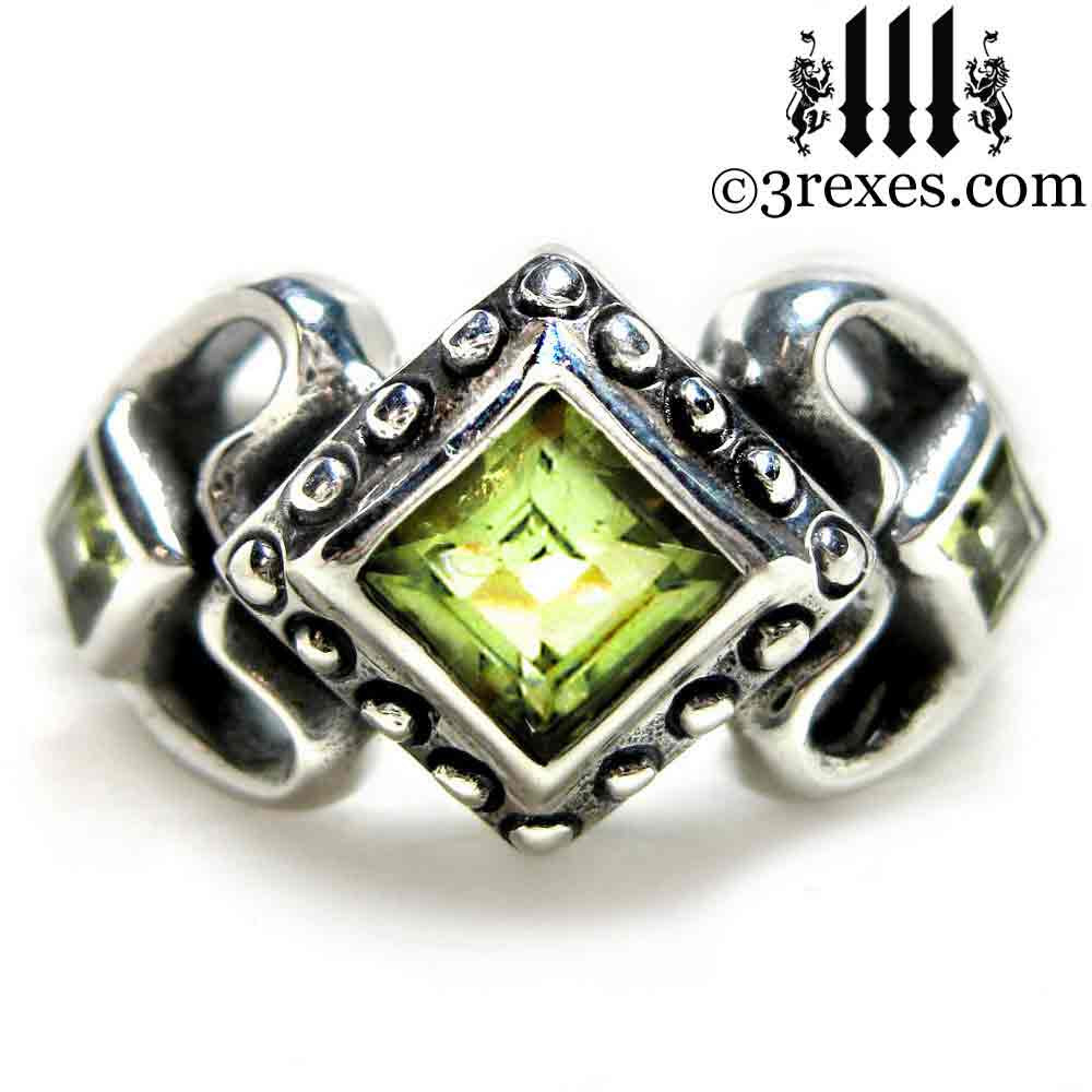 concept gemstone of peridot jewelry awesome wedding rings