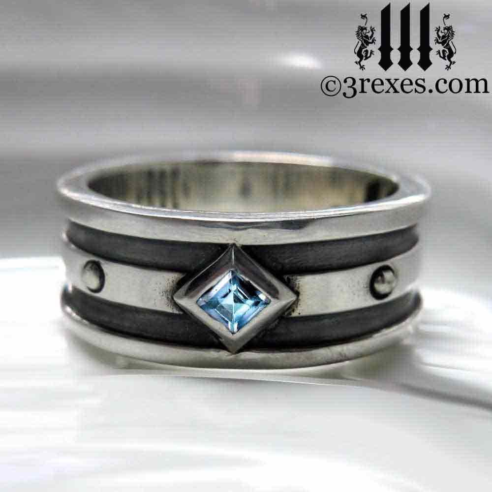 Moorish Gothic One Stone Ring 3 Rexes Jewelry