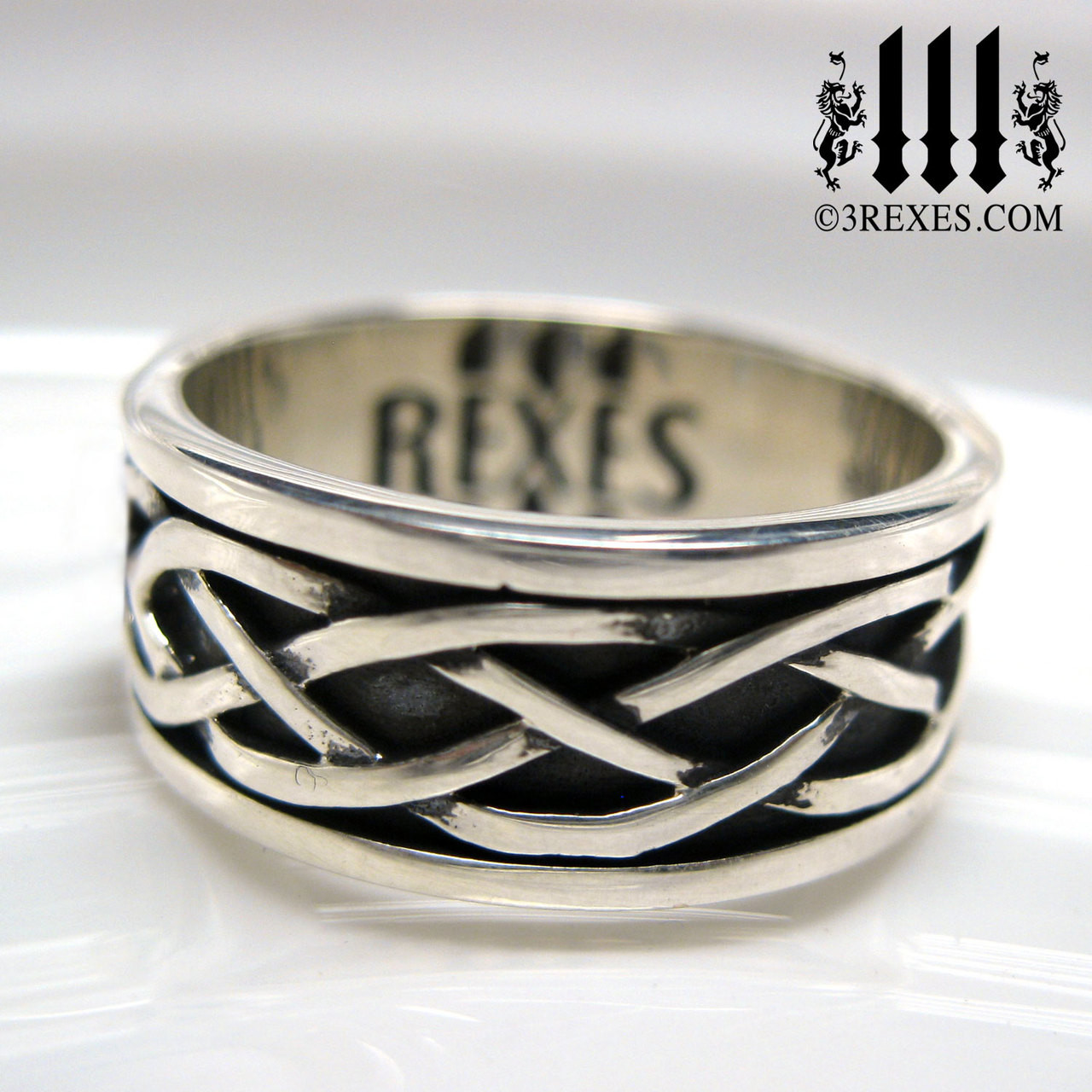 Celtic Knot Silver Soul Ring | .925 Sterling Silver