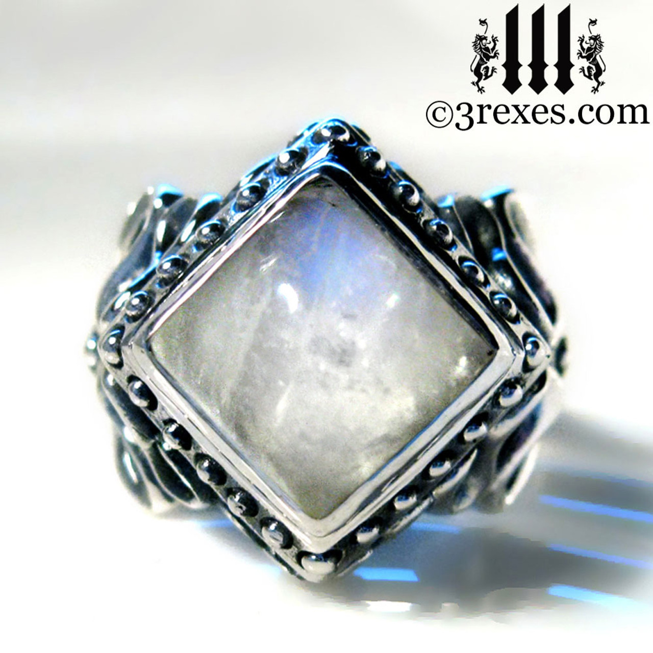 Raven Love Silver Wedding Ring - 3 Rexes Jewelry