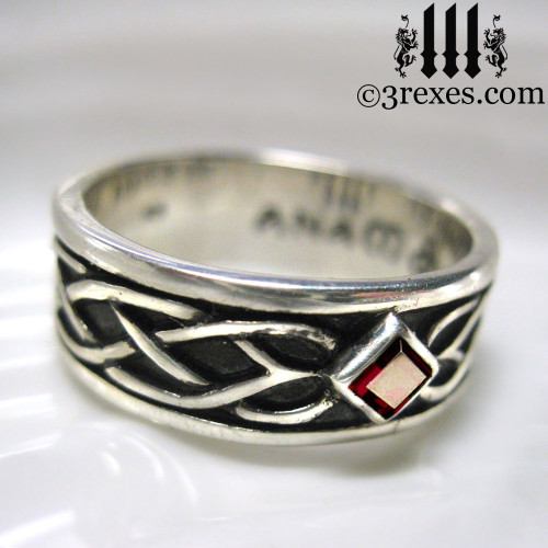 celtic knot silver soul ring 925 sterling silver. Black Bedroom Furniture Sets. Home Design Ideas