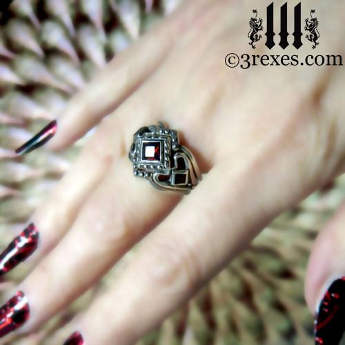 Princess Love Gothic Engagement Ring