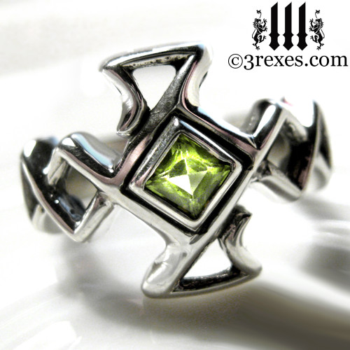 medieval bohemian z celtic cross ring - Medieval Wedding Rings