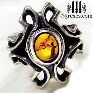 empress-gothic-ring-925-sterling-silver-amber-statement-jewelry-3-rexes-jewelry