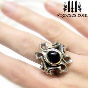 empress-gothic-ring-925-sterling-silver-black-onyx-statement-jewelry-model-detail-3-rexes-jewelry