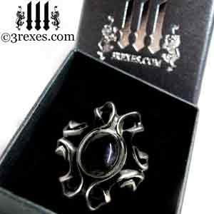 empress-gothic-ring-925-sterling-silver-black-onyx-statement-jewelry-prestige-black-box-3-rexes-jewelry
