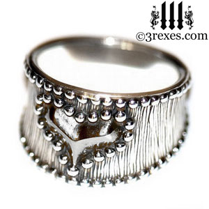 medieval-silver-studded-heart-ring-womans-gothic-wide-band-side-3-rexes-jewelry