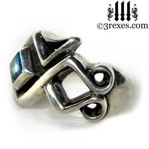 mens-bohemian-blue-topaz-stone-z-ring-celtic-silver-band-3-rexes-jewelry