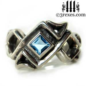 mens-bohemian-gothic-z-ring-blue-topaz-celtic-925-silver-band-3-rexes-jewelry
