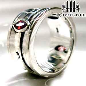 mens-silver-moorish-marquise-engagement-ring-garnet-stone-january-birthstone-3-rexes-jewelry