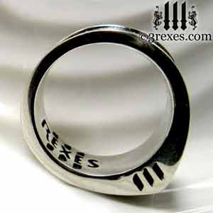 iron cross rings for men sterling silver masonic knights templar band ring by 3 rexes jewelry