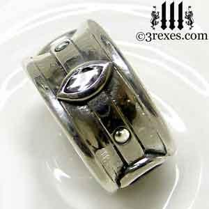 silver-moorish-marquise-wedding-ring-white-cz-stone-3-rexes-jewelry